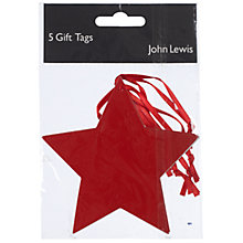 Buy John Lewis Star Gift Tag, Pack of 5 Online at johnlewis.com