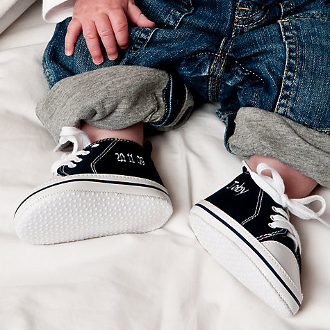 Buy My 1st Years Baby Personalised Trainers, Blue Online at johnlewis.com