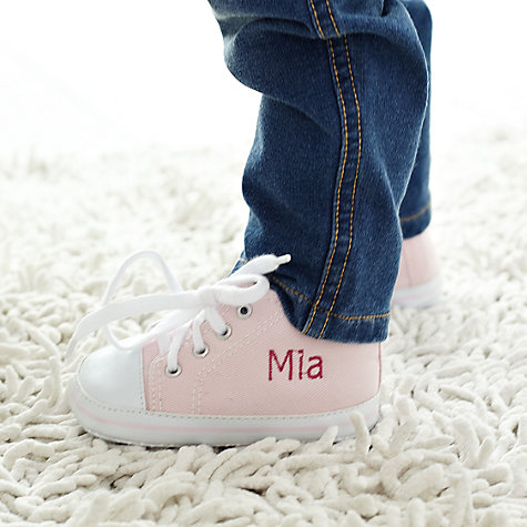 Buy My 1st Years Baby Personalised Trainers, Pink Online at johnlewis.com