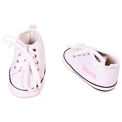 My 1st Years Baby Personalised Trainers, White
