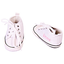 Buy My 1st Years Baby Personalised Trainers, White Online at johnlewis.com