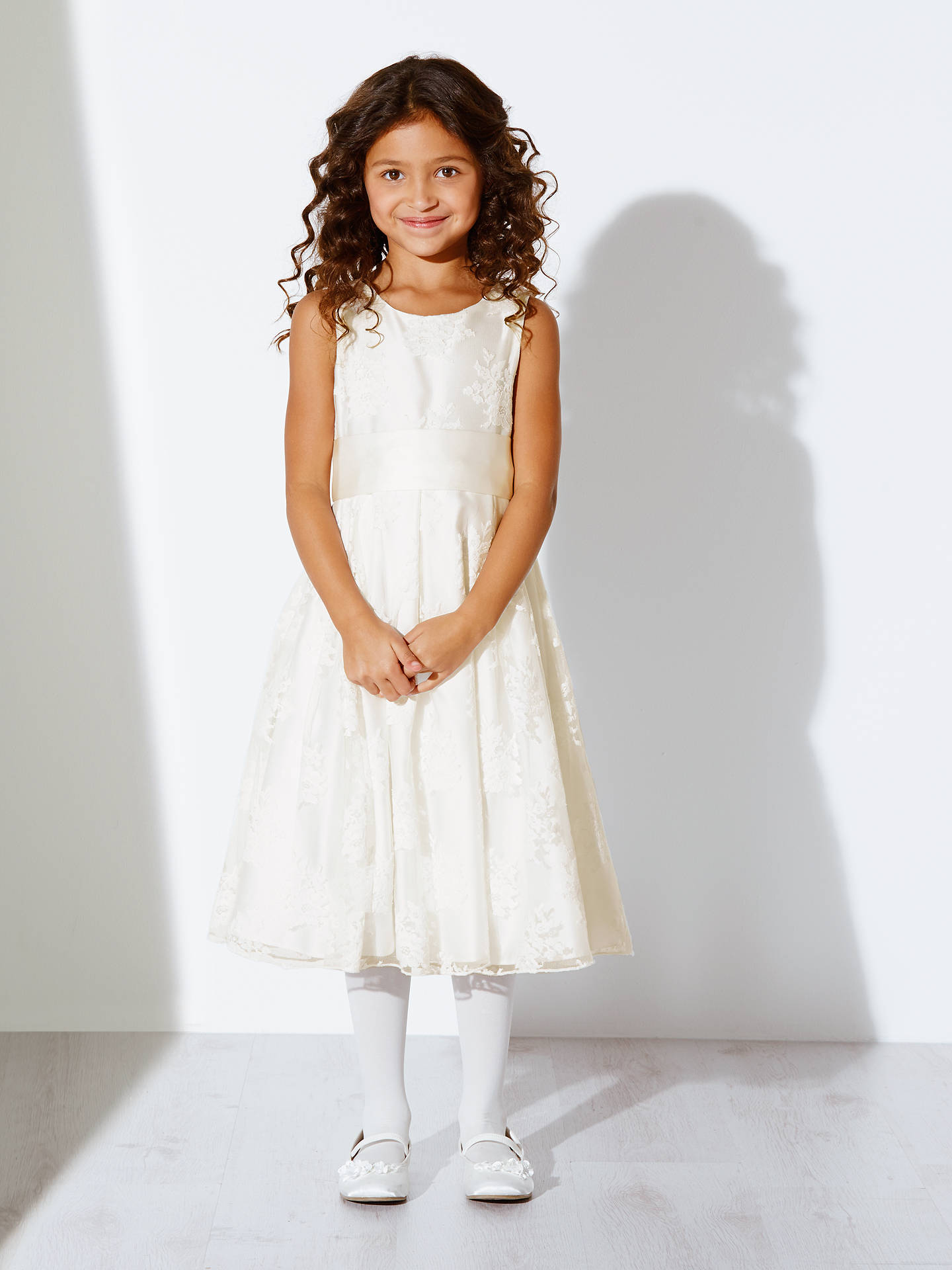 58ca92f38 John Lewis Girls  Empire Line Lace Bridesmaid Dress