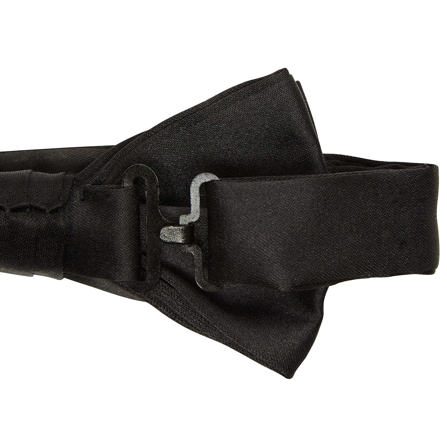 BuyJohn Lewis Silk Ready Tied Bow Tie, Black, One size Online at johnlewis.com