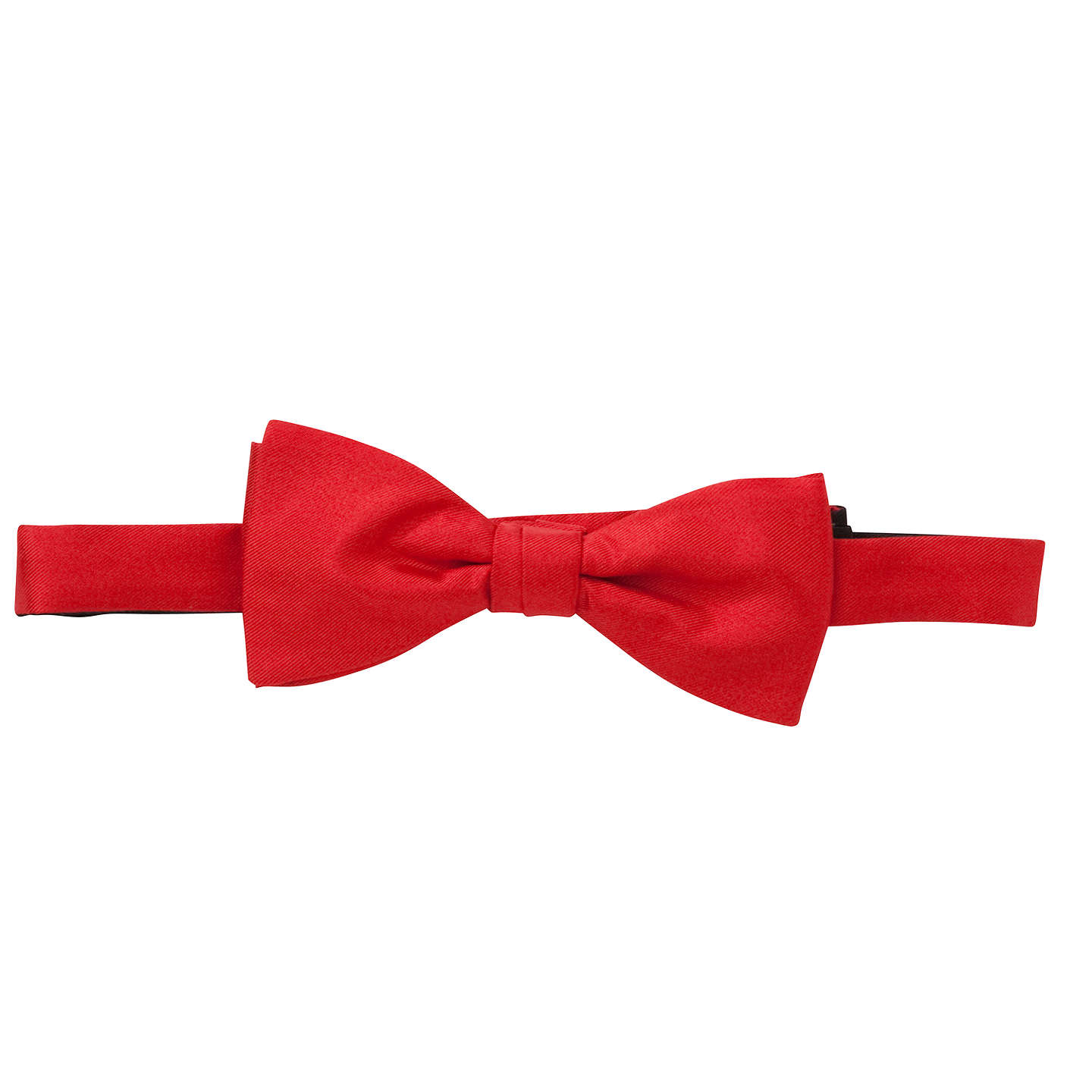 BuyJohn Lewis Silk Ready Tied Bow Tie, Red, One size Online at johnlewis.com