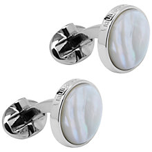 Buy Mulberry Semi Precious Round Cufflinks, Mother of Pearl Online at johnlewis.com
