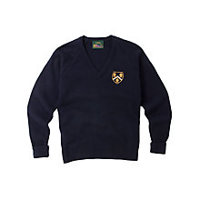Buy Hitchin Girls' School Acrylic Pullover, Blue Online at johnlewis.com