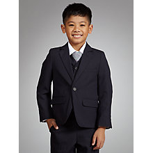 Buy John Lewis Boy Pinstripe Jacket, Navy Online at johnlewis.com