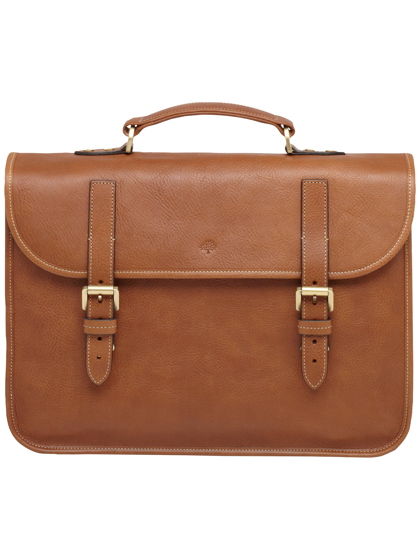00799bda76 View All Men's Bags. Buy Mulberry Elkington Natural Leather Briefcase, Oak  Online at johnlewis.com