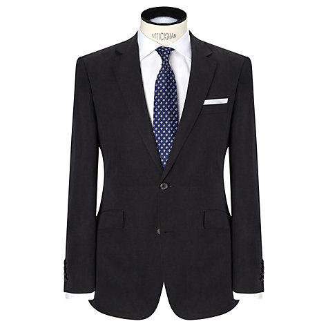 Buy John Lewis Silk and Linen Suit Jacket, Navy | John Lewis