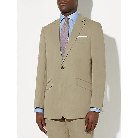 Buy John Lewis Silk and Linen Suit Jacket, Stone | John Lewis
