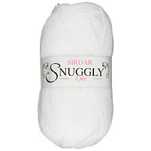 Buy Sirdar Snuggly 2 Ply Baby Knitting Yarn, 50g, White 251 Online at johnlewis.com