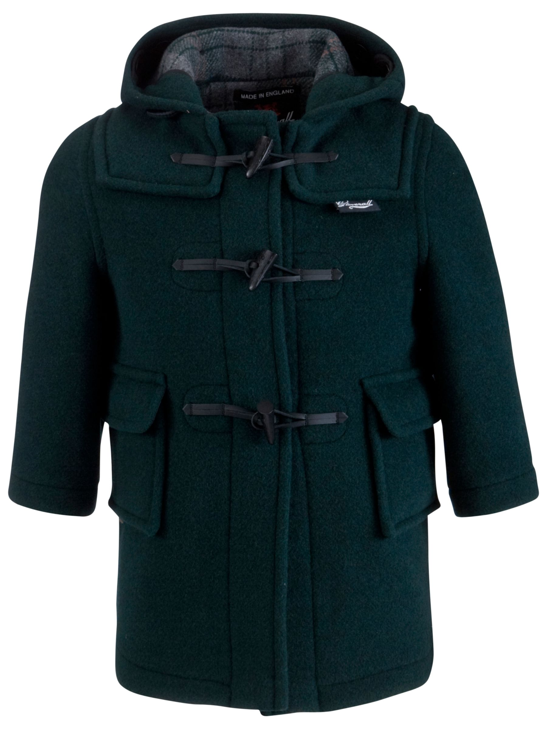 Gloverall Gloverall School Duffle Coat, Green