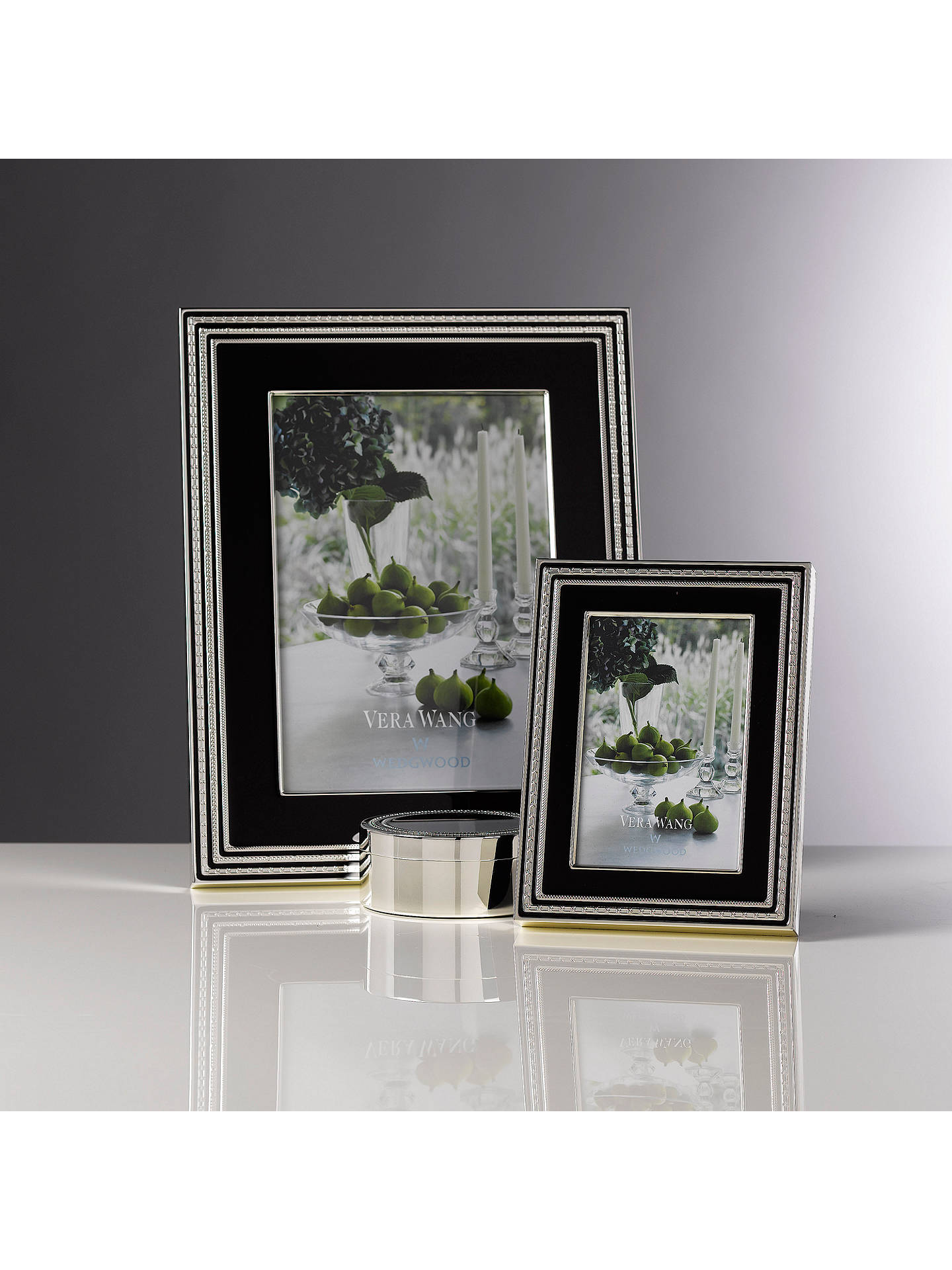 Vera Wang For Wedgwood With Love Photo Frame Noir Silver At John