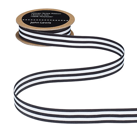 Buy John Lewis Woven Ribbon, 25mm Online at johnlewis.com