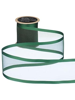 John Lewis & Partners Wire Edge Woven Sheer Organza Ribbon
