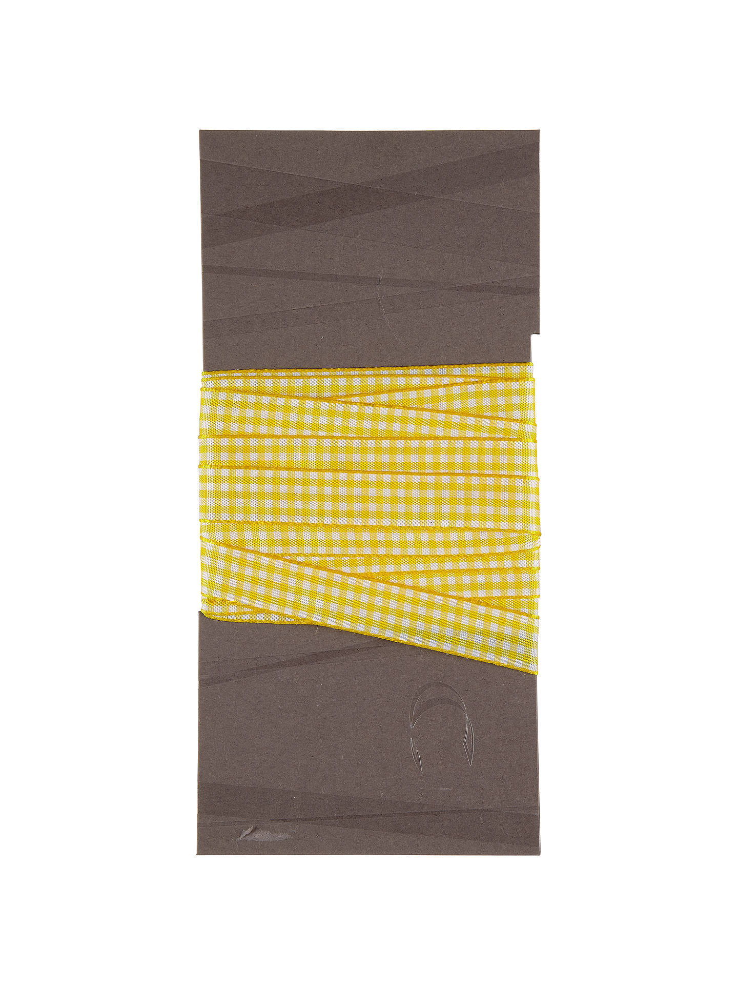 BuyJohn Lewis & Partners Gingham Ribbon, Yellow/White, 16mm Online at johnlewis.com