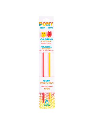 Pony Children's 18cm Knitting Needles, Pack of 2, Assorted Widths