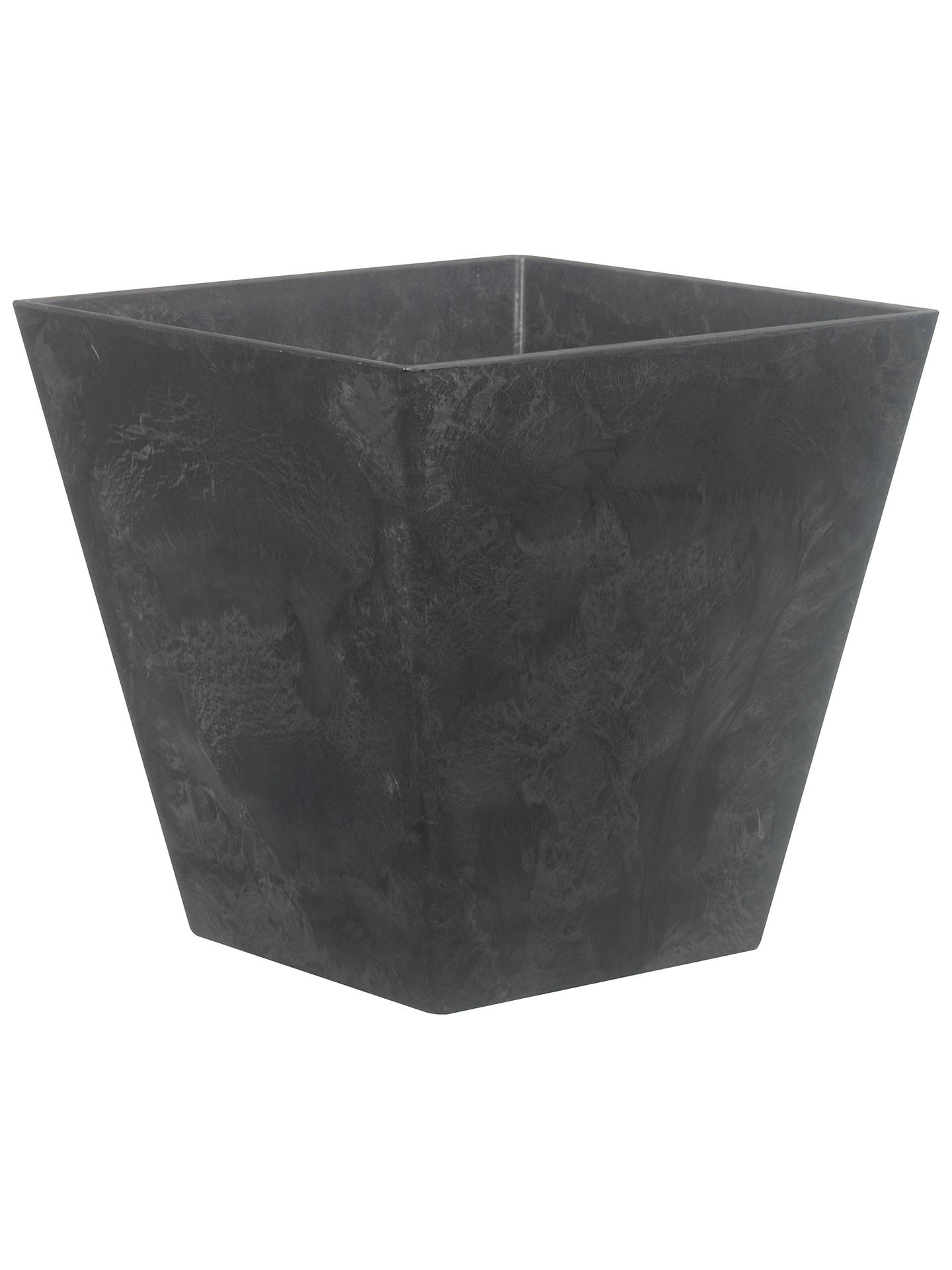 BuyArtstone Ella Planter, Black, H29 x W30 x D30cm Online at johnlewis.com