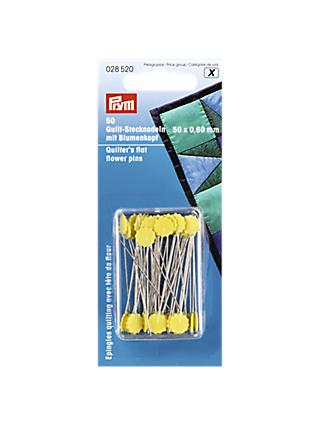 Prym Quilter's Flat Flower Pins, 60 x 50mm, Pack of  50