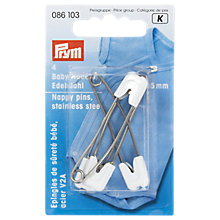 Buy Prym Stainless Steel Nappy Pins, 55mm, Pack of 4 Online at johnlewis.com