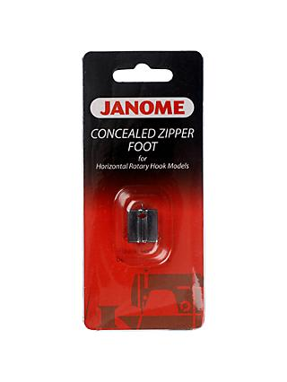 Janome Concealed Zipper Foot, Horizontal Rotary Hook Models