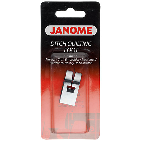 Buy Janome Ditch Quilting Foot | John Lewis : ditch quilting foot - Adamdwight.com