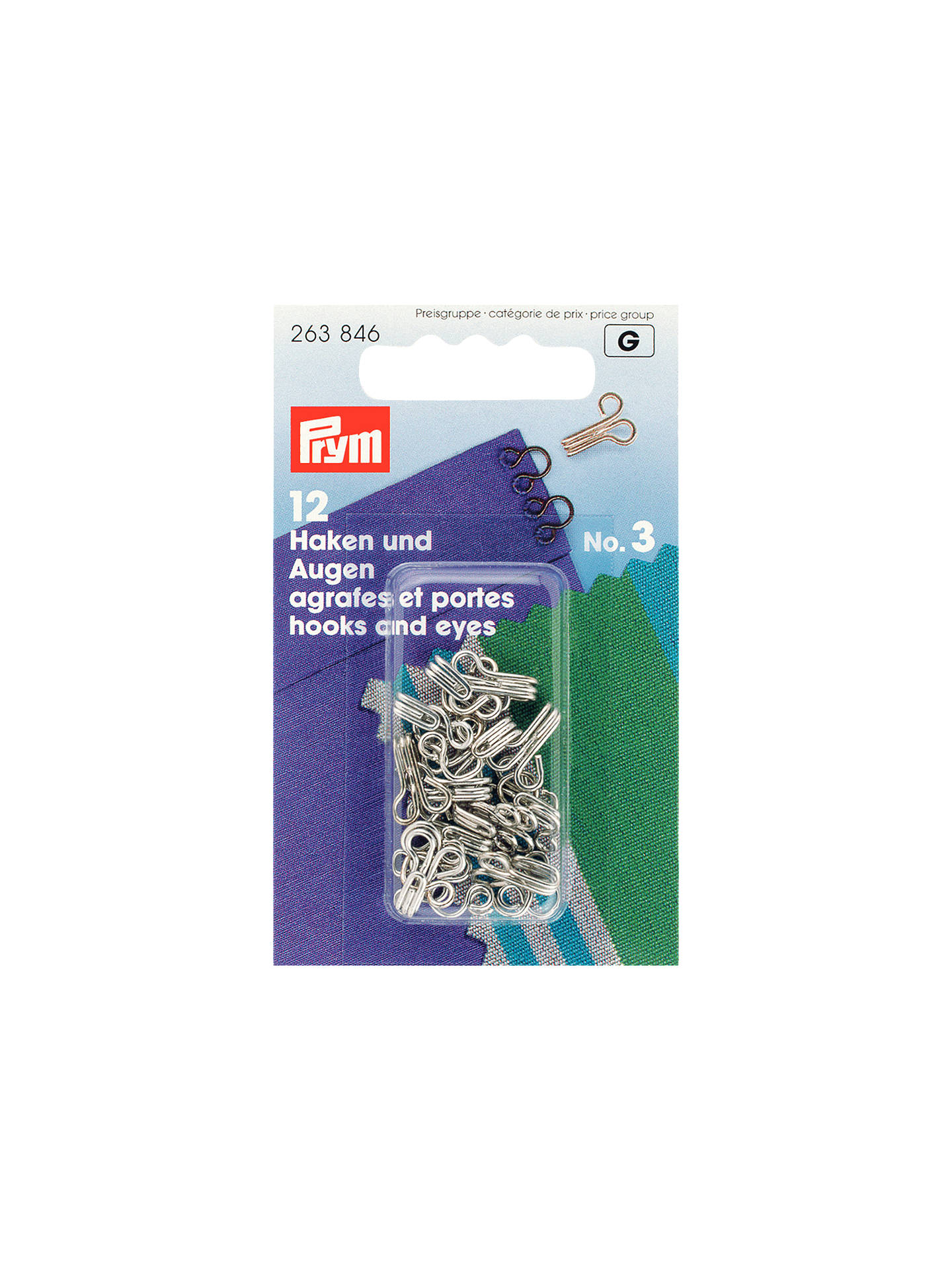 Prym Hooks And Eyes Pack Of 12 At John Lewis Partners
