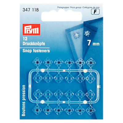 Image of Prym Sew-On Snap Fasteners, 7mm, Pack of 12