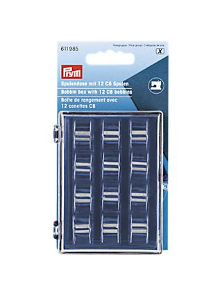 Prym Bobbin Box with 12 x CB Metal Bobbins