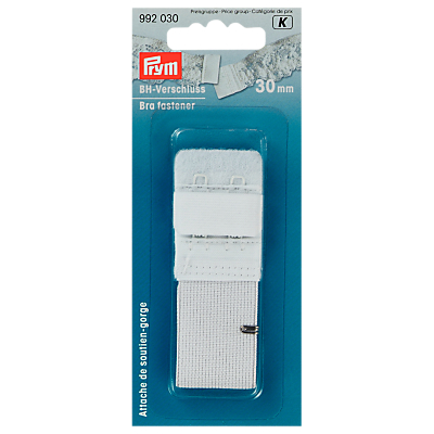 Product photo of Goldzack bra fastener with skin protection 30mm white