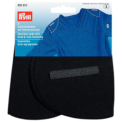 Image of Prym Black Set-In Shoulder Pads With Hook And Loop, Small