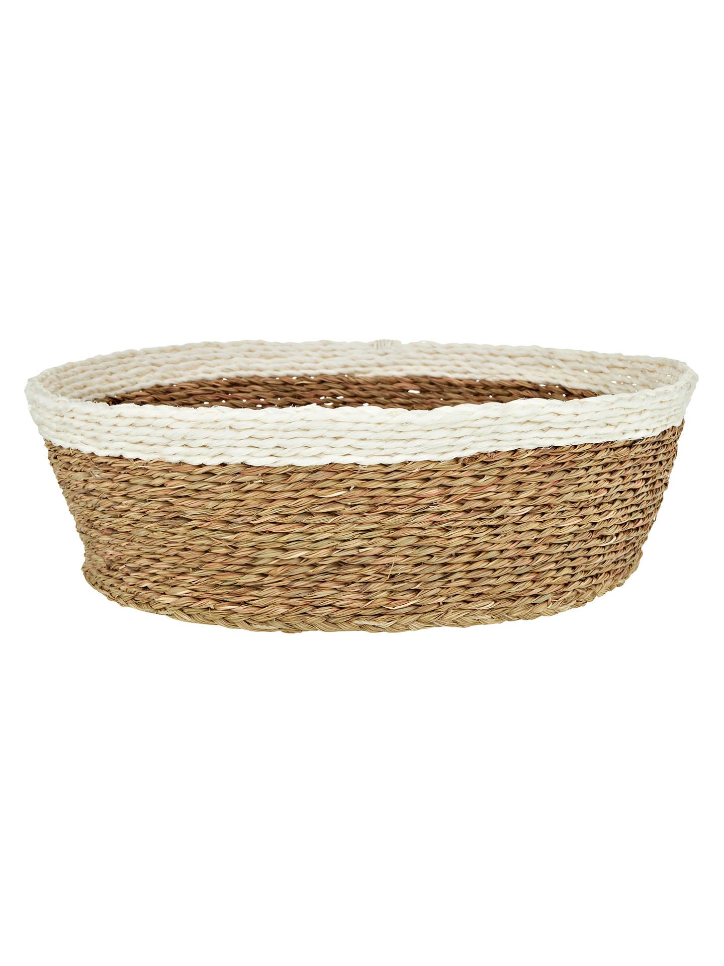 Gone Rural Woven Grass Bread Basket Smoke White At Johnlewis Com