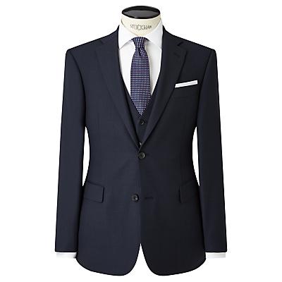Image of John Lewis & Partners Regular Fit Birdseye Suit Jacket, Navy