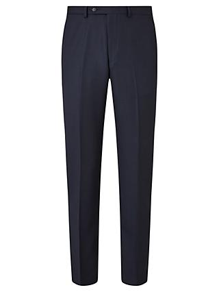 John Lewis & Partners Regular Fit Birdseye Suit Trousers, Navy