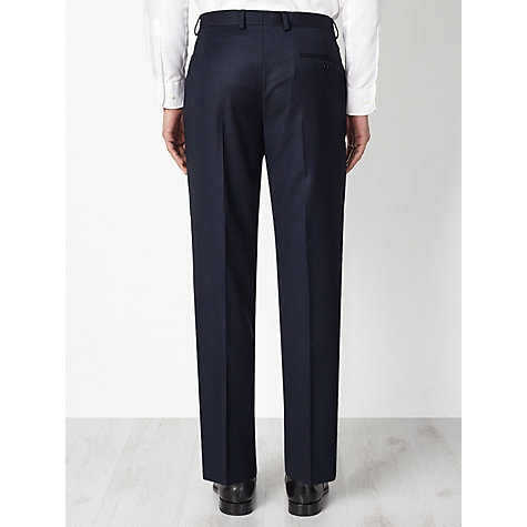 Buy John Lewis Regular Fit Birdseye Suit Trousers, Navy Online at johnlewis.com