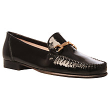 Buy Carvela Mariner Leather Loafers, Black Online at johnlewis.com