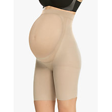 Buy Spanx Power Mama Maternity Mid-Thigh Shaper Shorts, Nude Online at johnlewis.com