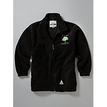 Buy Whitefield School, an Academy Embroidered Fleece, Black Online at johnlewis.com