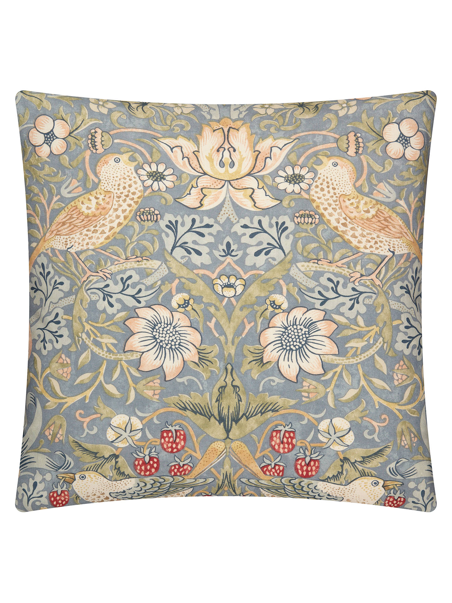 BuyMorris & Co. Strawberry Thief Cushion, Slate Online at johnlewis.com