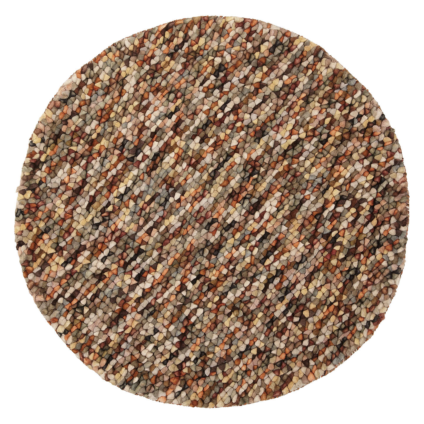 Jelly Beans Rug Russet Dia 90cm Online At Johnlewis Com