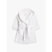 Buy John Lewis Baby Towelling Robe, White Online at johnlewis.com