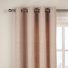 Buy John Lewis Cotton Rib Lined Eyelet Curtains Online at johnlewis.com