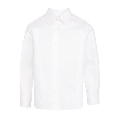 Product photo of John lewis girls long sleeve fitted pure cotton school blouse white