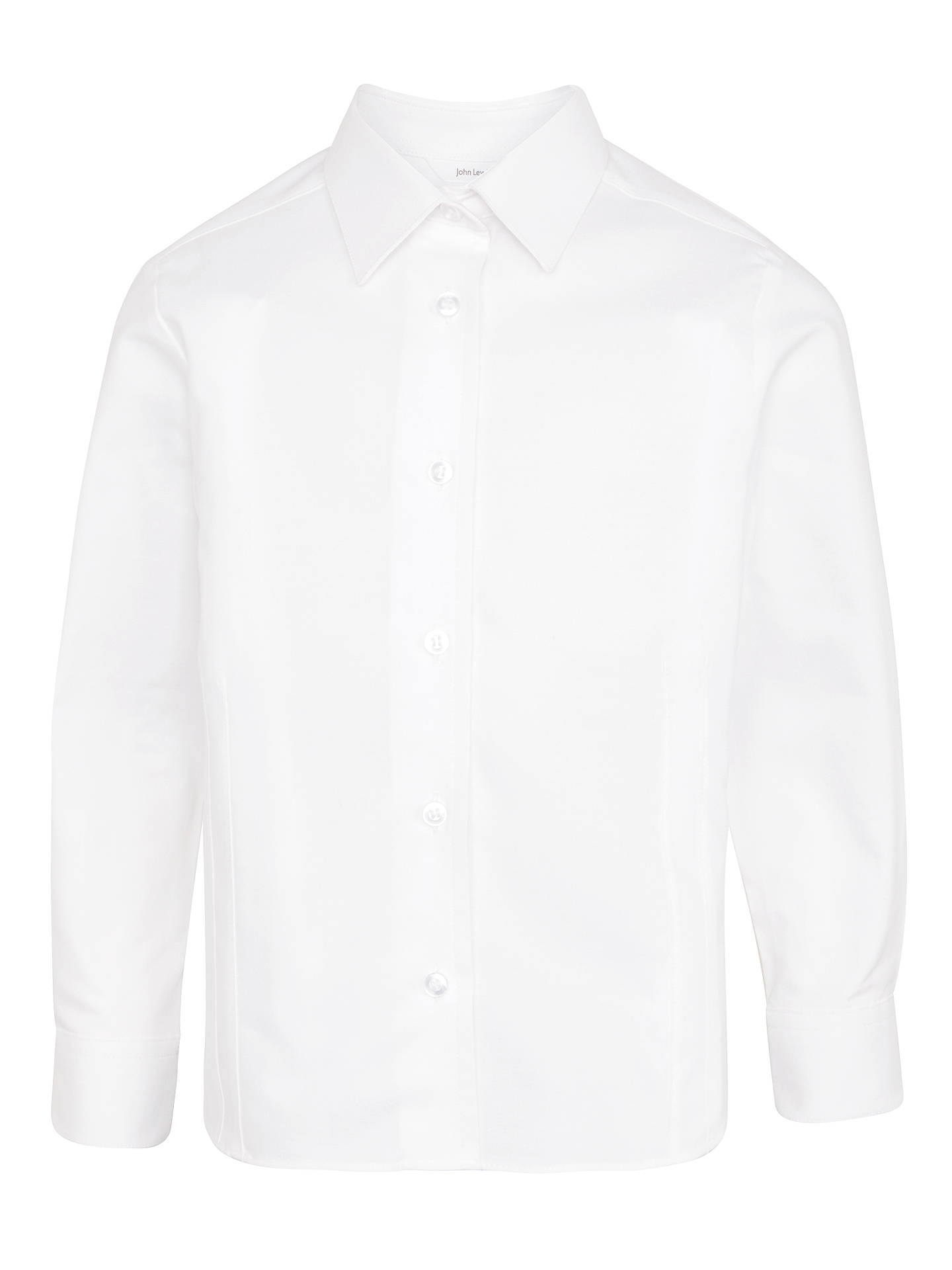 51760d90c1f11c ... Buy John Lewis   Partners Girls  Long Sleeve Fitted Pure Cotton School  Blouse