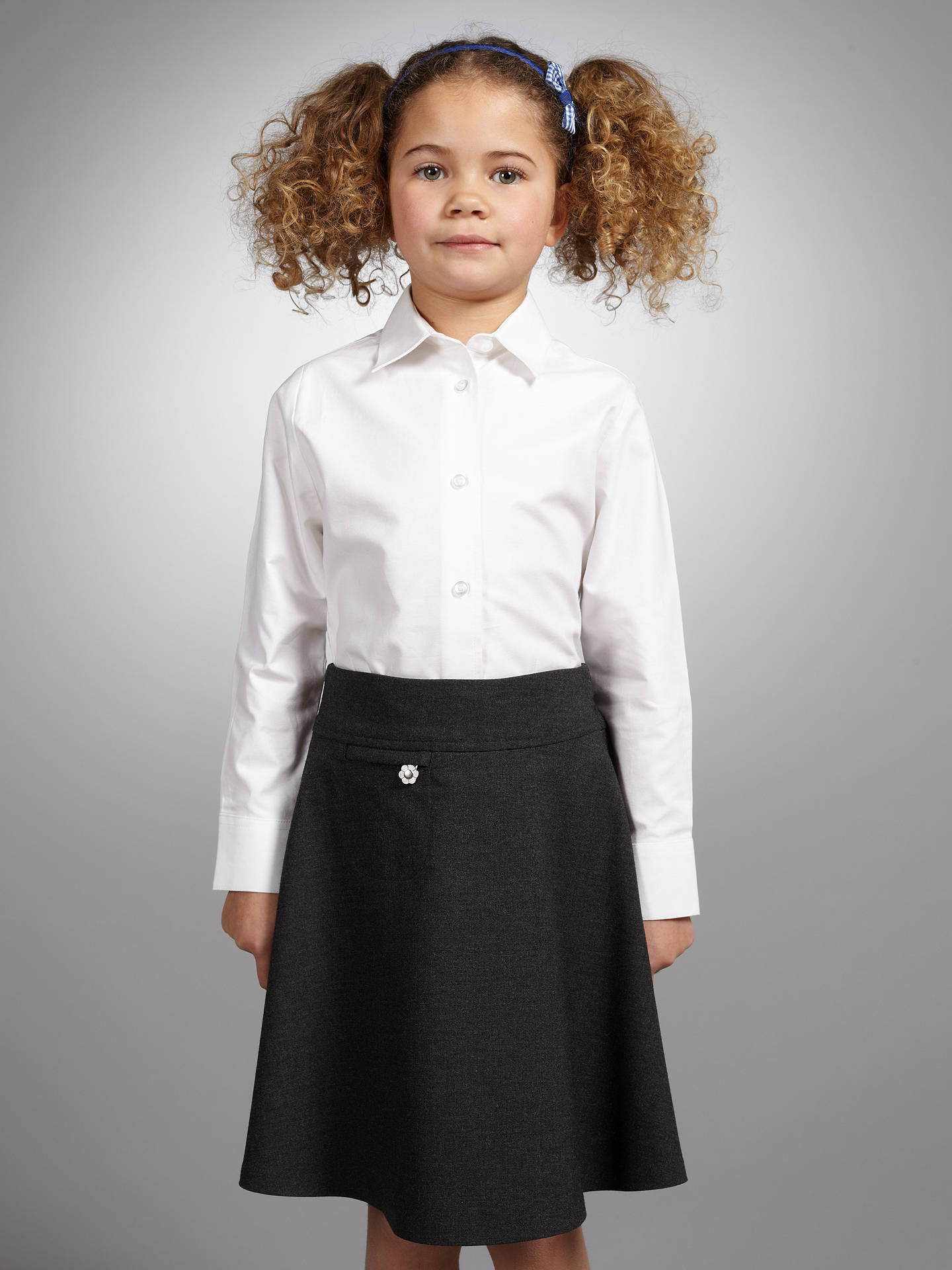 ef36bf63f ... Buy John Lewis & Partners Girls' Long Sleeve Fitted Pure Cotton School  Blouse, White ...