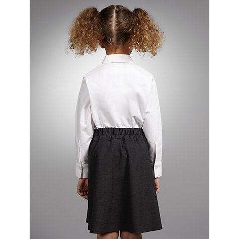 Buy John Lewis Girls' Long Sleeve Fitted Pure Cotton School Blouse, White Online at johnlewis.com