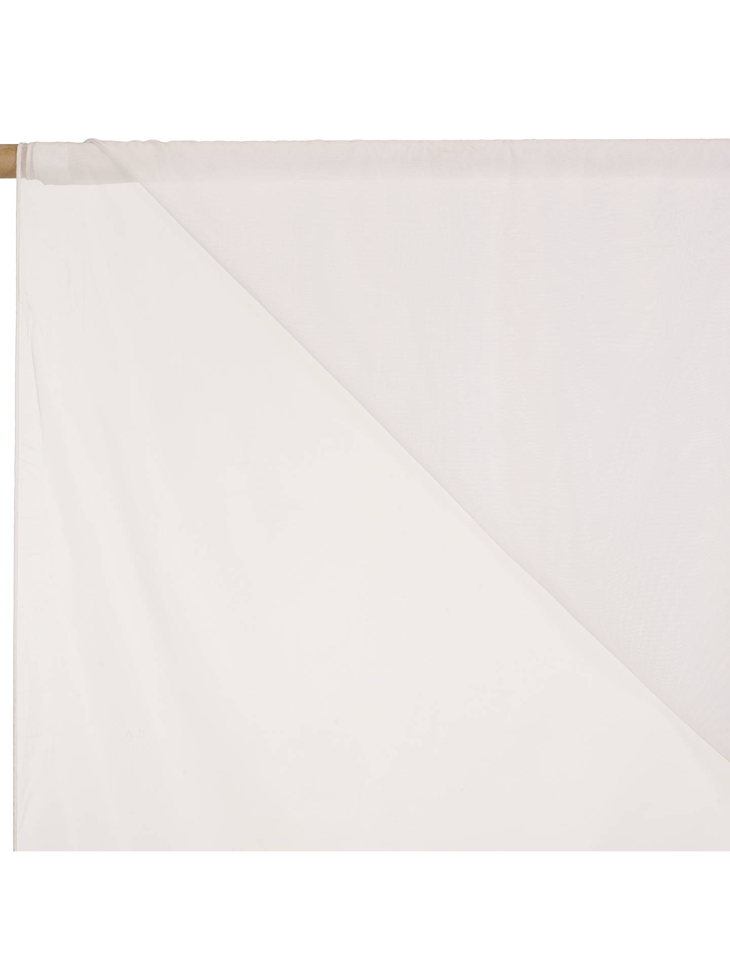 Buy John Lewis & Partners Penang Slot Headed Voile Fabric, White, Drop 122cm Online at johnlewis.com