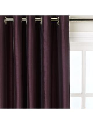 John Lewis Partners Faux Silk Pair Blackout Lined Eyelet Curtains
