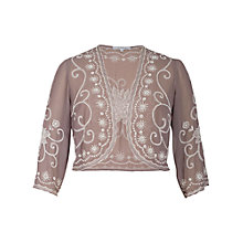 Buy Chesca Beaded Bolero, Cappuccino Online at johnlewis.com