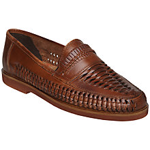 Buy Bertie Bryant Park Woven Leather Moccasins, Tan Online at johnlewis.com